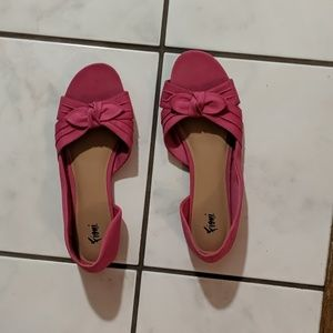Fioni pink open toe shoes